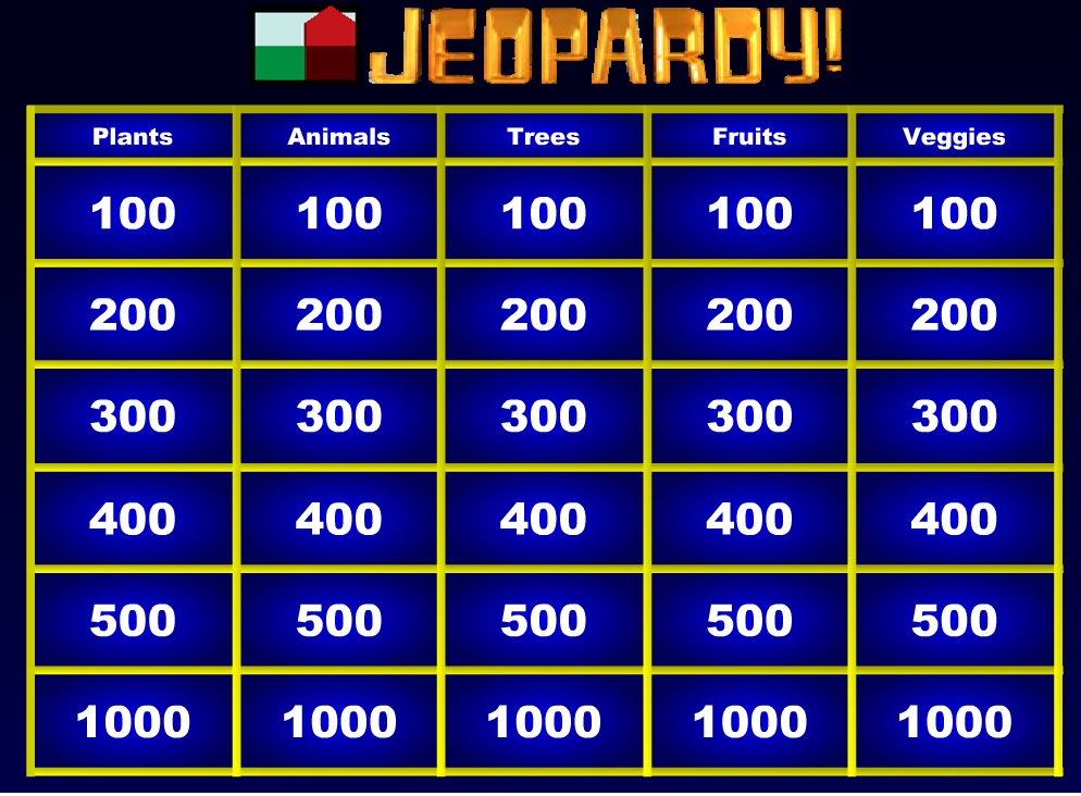 UP Jeopardy screenshot